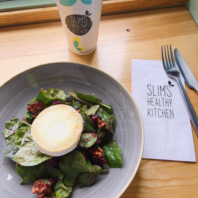 Goats Cheese and Beet Salad at slimshk today So manyhellip