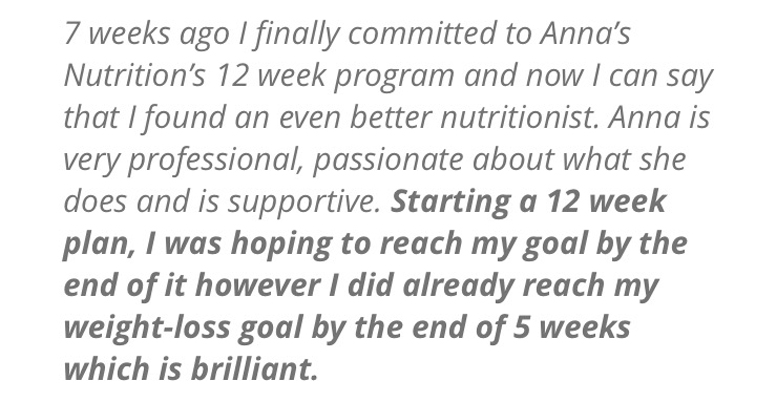 Success story - Anna's Nutrition