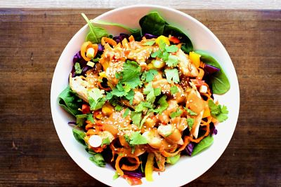 asian chicken salad - Anna's Nutrition