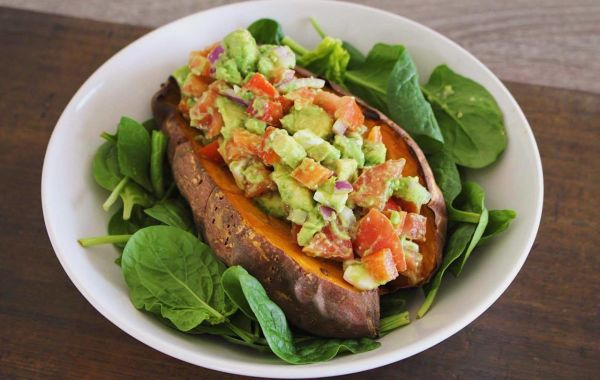 stuffed sweet potato - Anna's Nutrition